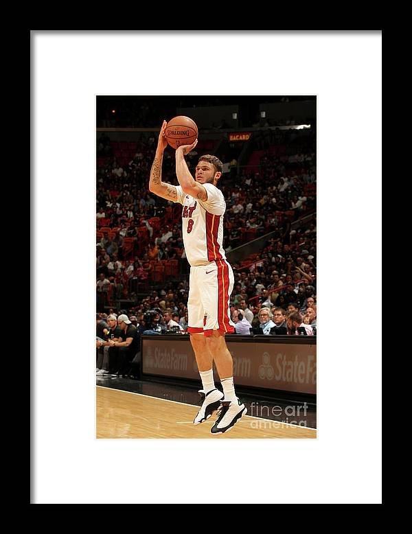 Nba Pro Basketball Framed Print featuring the photograph Tyler Johnson by Oscar Baldizon