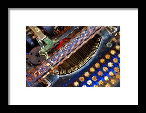 Typewriter Framed Print featuring the photograph Typewriter by Skip Hunt