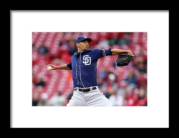 Great American Ball Park Framed Print featuring the photograph Tyson Ross by Andy Lyons