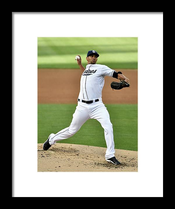 Second Inning Framed Print featuring the photograph Tyson Ross by Denis Poroy