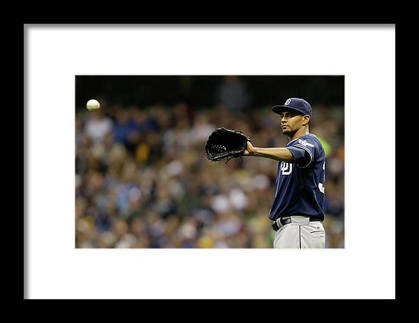 Wisconsin Framed Print featuring the photograph Tyson Ross by Mike Mcginnis