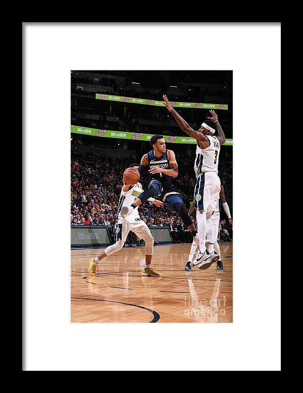 Nba Pro Basketball Framed Print featuring the photograph Tyus Jones by Bart Young