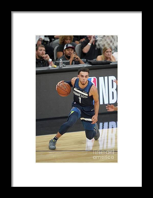 Nba Pro Basketball Framed Print featuring the photograph Tyus Jones by Darren Carroll