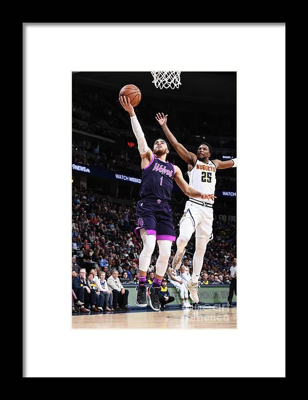 Nba Pro Basketball Framed Print featuring the photograph Tyus Jones by Garrett Ellwood