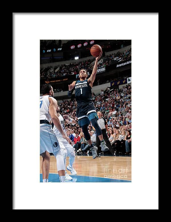 Nba Pro Basketball Framed Print featuring the photograph Tyus Jones by Glenn James