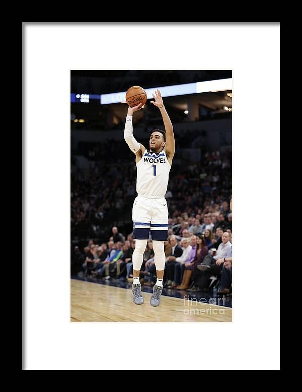 Nba Pro Basketball Framed Print featuring the photograph Tyus Jones by Jordan Johnson