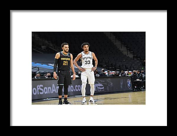Nba Pro Basketball Framed Print featuring the photograph Tyus Jones by Logan Riely