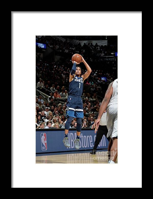 Nba Pro Basketball Framed Print featuring the photograph Tyus Jones by Mark Sobhani