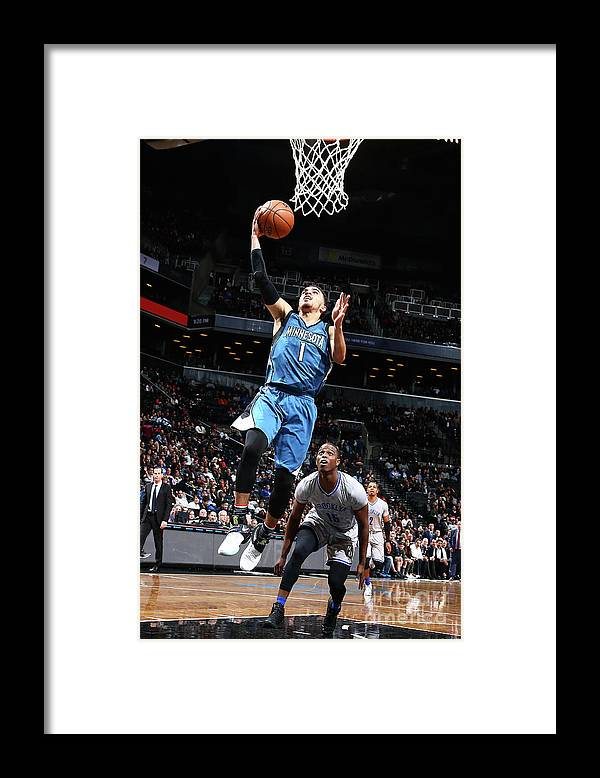 Nba Pro Basketball Framed Print featuring the photograph Tyus Jones by Nathaniel S. Butler