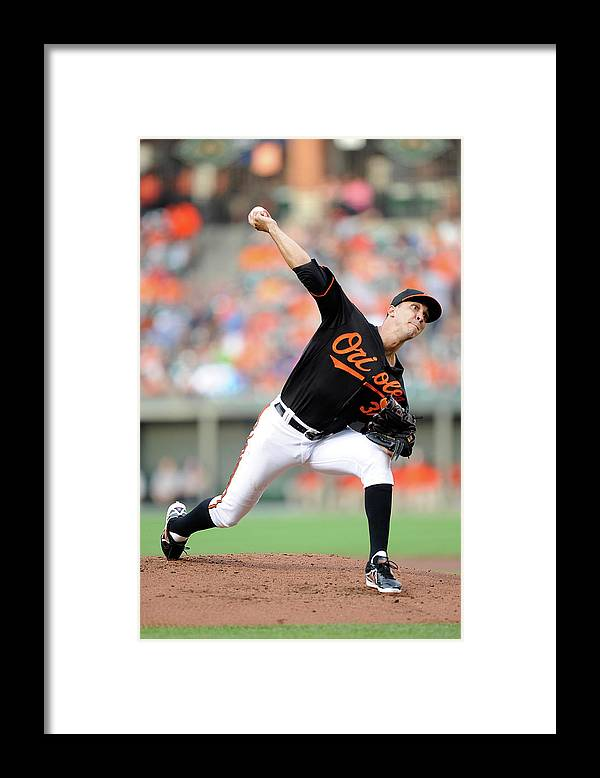 Second Inning Framed Print featuring the photograph Ubaldo Jimenez by Greg Fiume