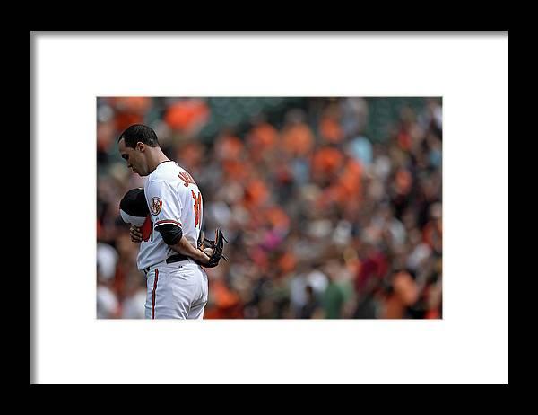 American League Baseball Framed Print featuring the photograph Ubaldo Jimenez by Patrick Smith