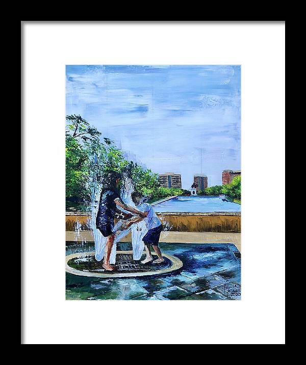 Hermann Park Framed Print featuring the painting UnADULTurated Fun by Lauren Luna