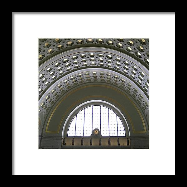 Photograph Framed Print featuring the photograph union station 137PM by Richard Wetterauer