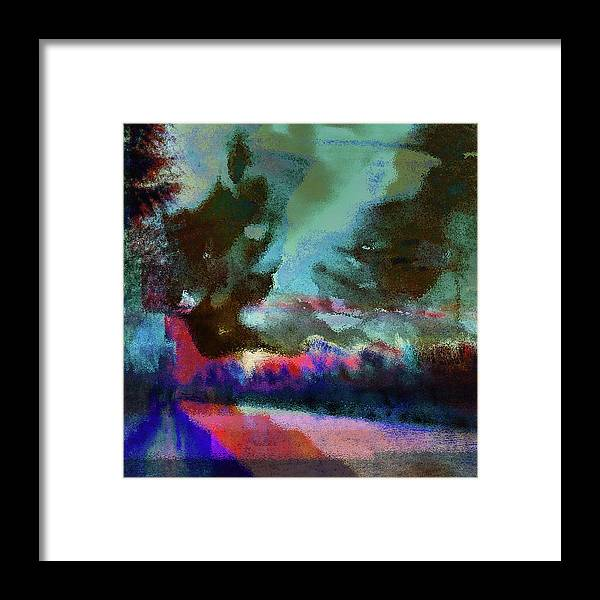 Colorful Waterside Landscape Framed Print by Onlythemoon