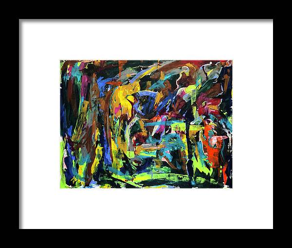 Abstract Framed Print featuring the painting Untitled 1125 by Buffalo Bonker