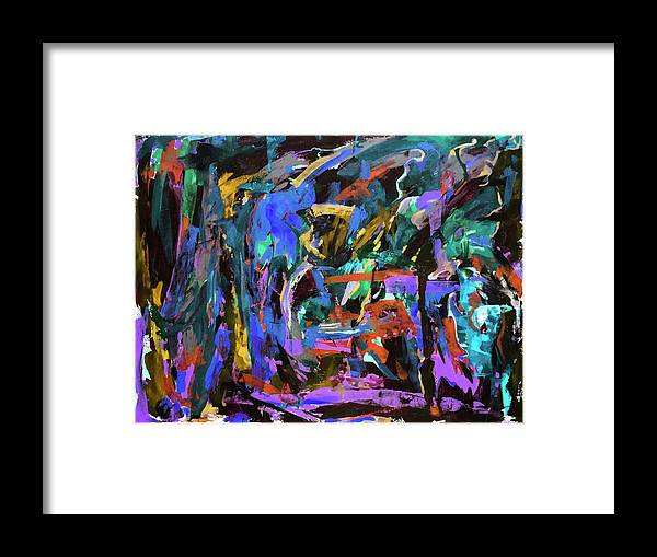 Abstract Painting Framed Print featuring the painting Untitled 1126 by Buffalo Bonker
