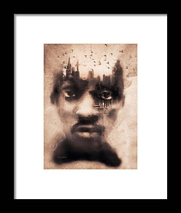 Digital Image Framed Print featuring the digital art Urban Mindset by Regina Wyatt