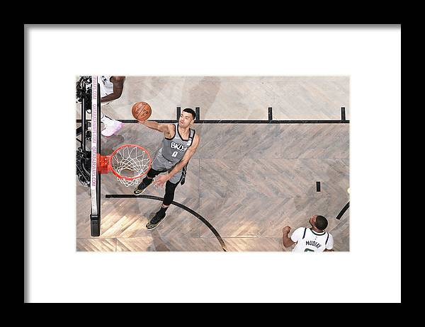 Nba Pro Basketball Framed Print featuring the photograph Utah Jazz v Brooklyn Nets by Nathaniel S. Butler