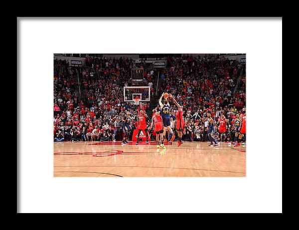 Nba Pro Basketball Framed Print featuring the photograph Utah Jazz v Houston Rockets by Bill Baptist