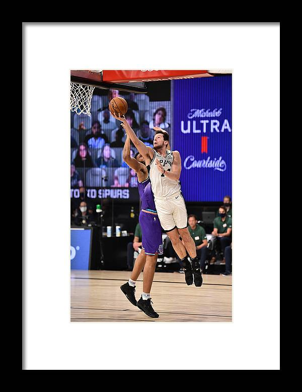 Nba Pro Basketball Framed Print featuring the photograph Utah Jazz v San Antonio Spurs by David Dow