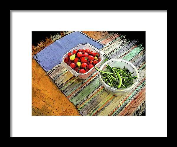 Digital Framed Print featuring the digital art Veggies by Arthur Fix