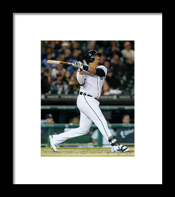 American League Baseball Framed Print featuring the photograph Victor Martinez by Duane Burleson