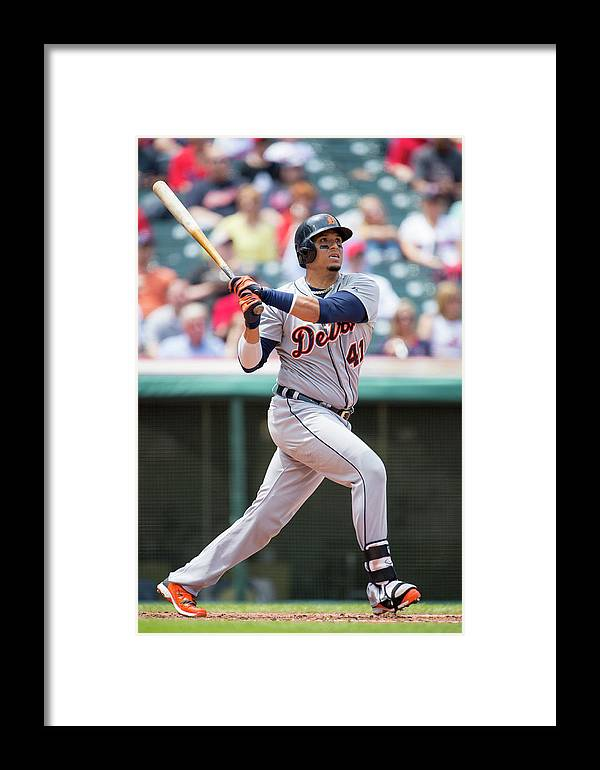 American League Baseball Framed Print featuring the photograph Victor Martinez by Jason Miller