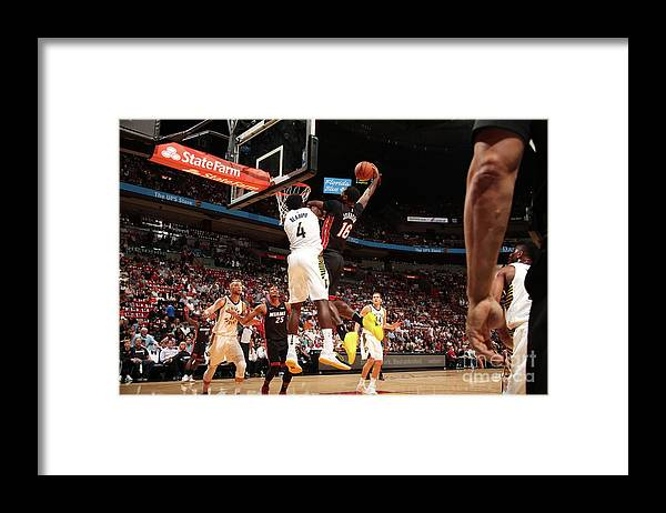 Nba Pro Basketball Framed Print featuring the photograph Victor Oladipo and James Johnson by Issac Baldizon