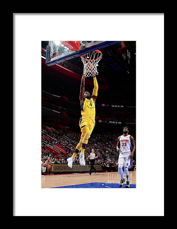 Nba Pro Basketball Framed Print featuring the photograph Victor Oladipo by Chris Schwegler