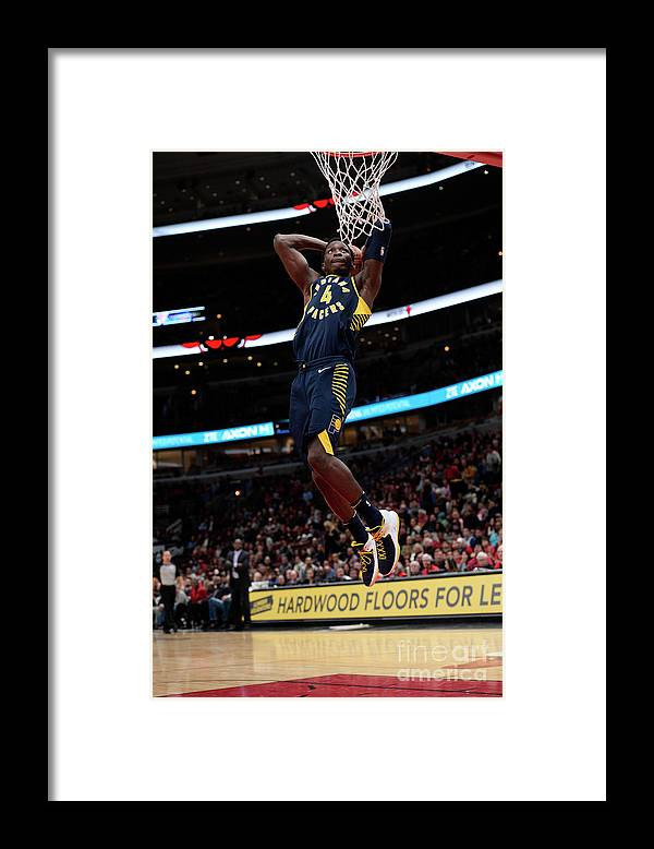 Nba Pro Basketball Framed Print featuring the photograph Victor Oladipo by David Dow