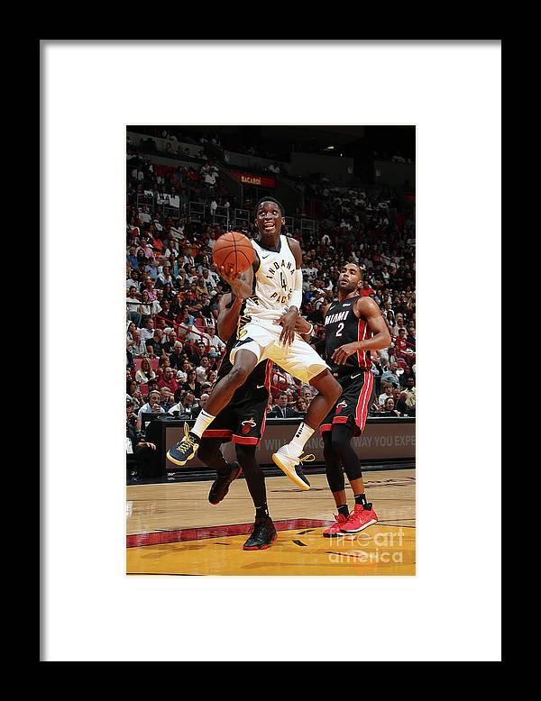 Nba Pro Basketball Framed Print featuring the photograph Victor Oladipo by Issac Baldizon