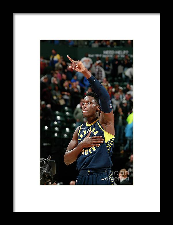 Nba Pro Basketball Framed Print featuring the photograph Victor Oladipo by Jeff Haynes