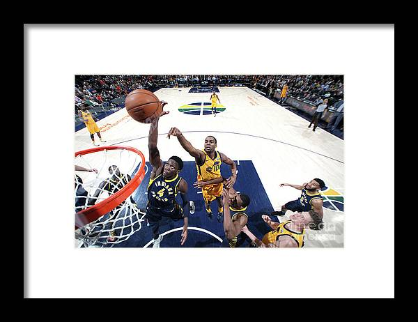Nba Pro Basketball Framed Print featuring the photograph Victor Oladipo by Melissa Majchrzak