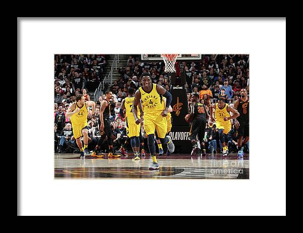 Playoffs Framed Print featuring the photograph Victor Oladipo by Nathaniel S. Butler