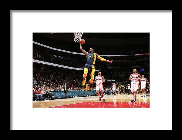 Nba Pro Basketball Framed Print featuring the photograph Victor Oladipo by Ned Dishman
