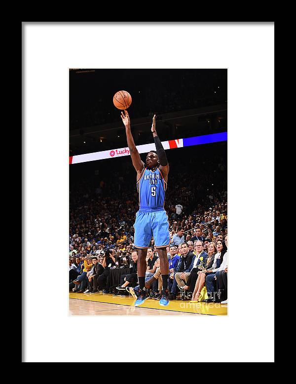 Nba Pro Basketball Framed Print featuring the photograph Victor Oladipo by Noah Graham