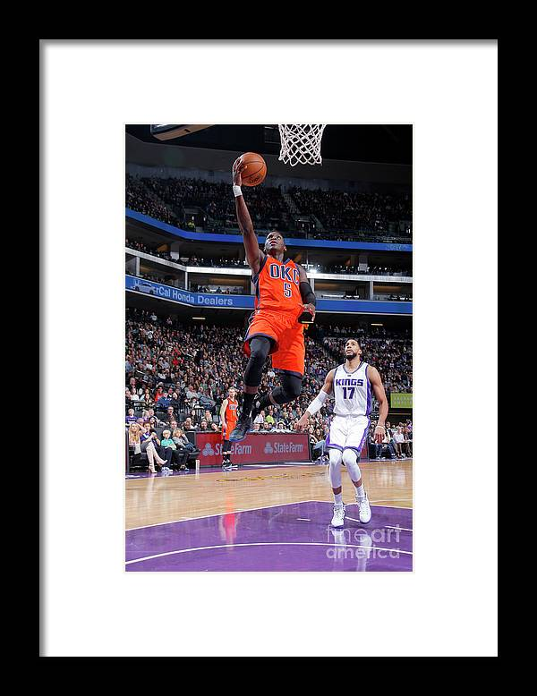 Nba Pro Basketball Framed Print featuring the photograph Victor Oladipo by Rocky Widner