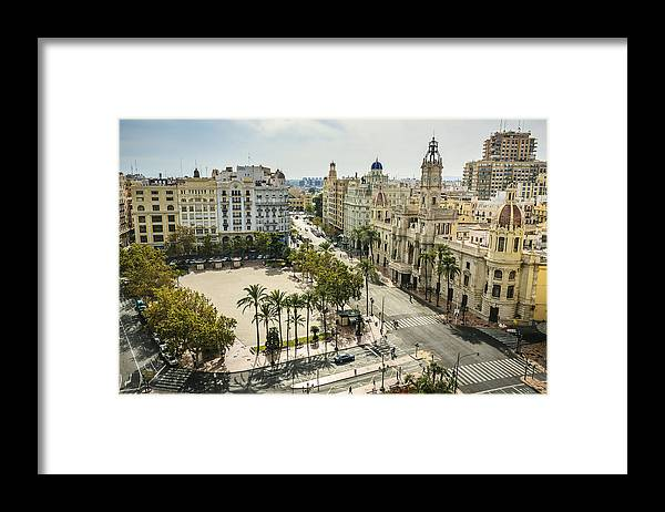 Panoramic Framed Print featuring the photograph View of Valencia city by Gonzalo Azumendi