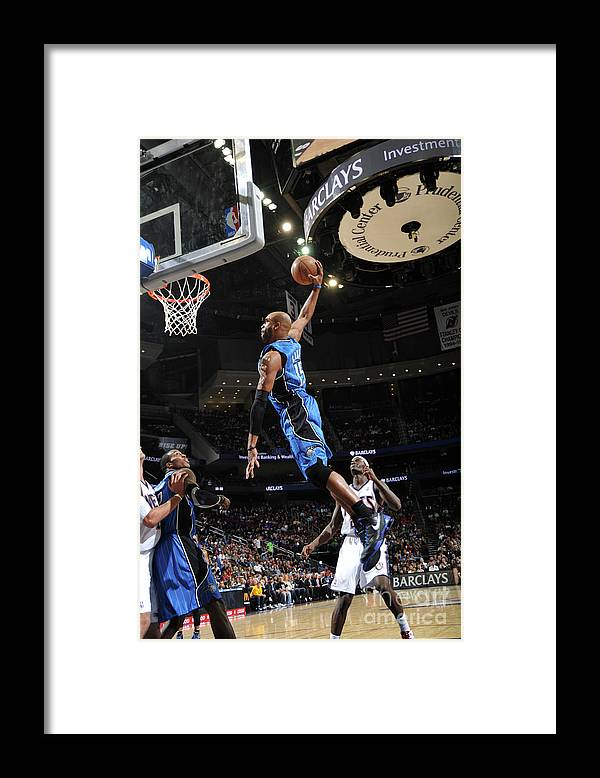 Nba Pro Basketball Framed Print featuring the photograph Vince Carter and Anthony Morrow by Jesse D. Garrabrant