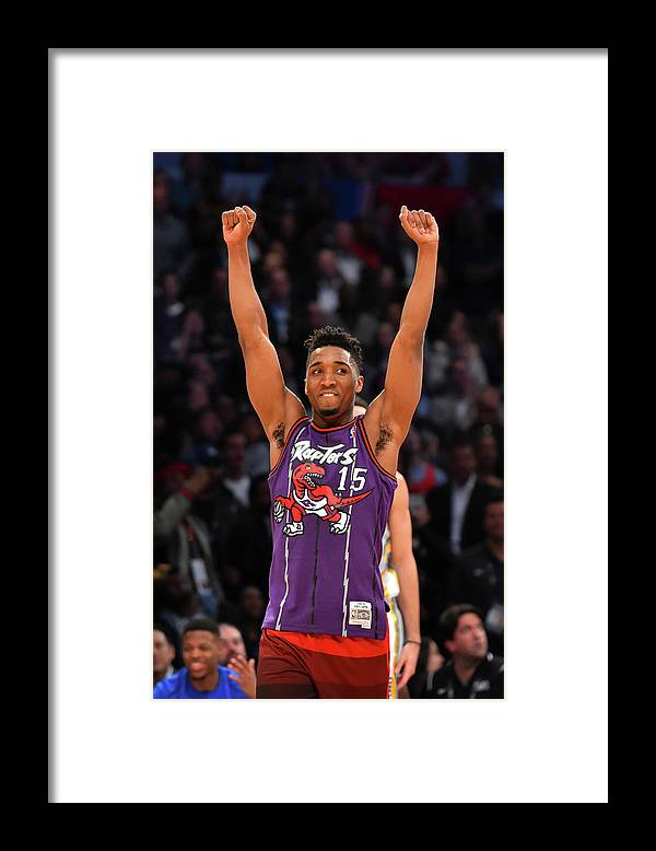 Event Framed Print featuring the photograph Vince Carter and Donovan Mitchell by Jesse D. Garrabrant