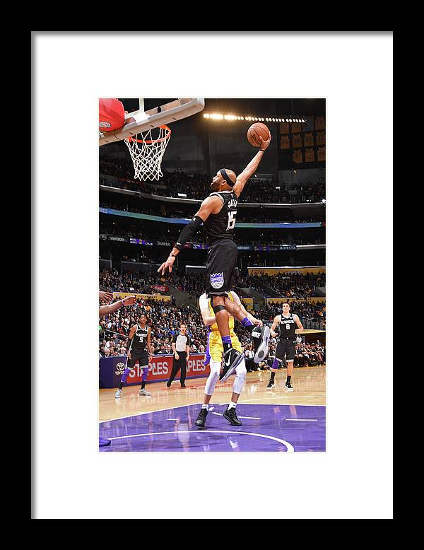 Nba Pro Basketball Framed Print featuring the photograph Vince Carter by Andrew D. Bernstein