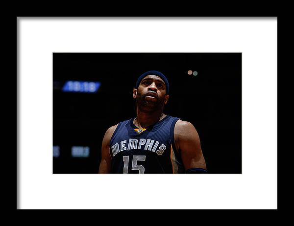 Nba Pro Basketball Framed Print featuring the photograph Vince Carter by Bart Young
