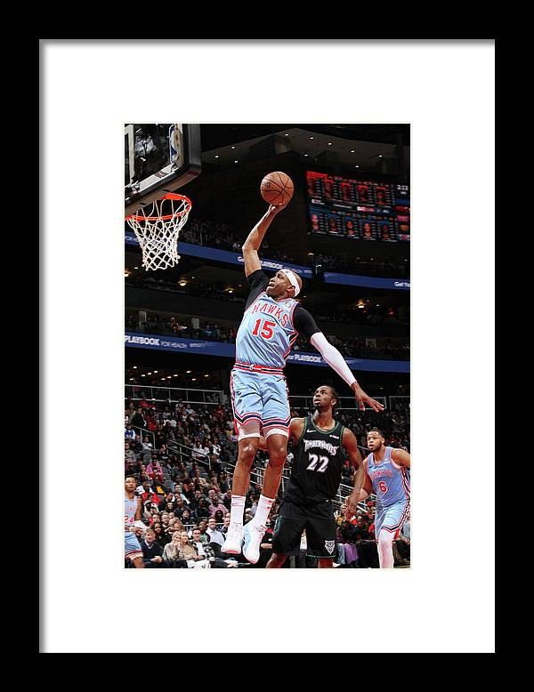 Atlanta Framed Print featuring the photograph Vince Carter by Jasear Thompson