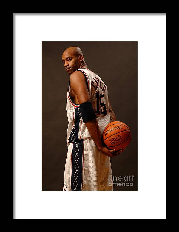 People Framed Print featuring the photograph Vince Carter by Jennifer Pottheiser