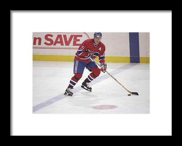 National Hockey League Framed Print featuring the photograph Vincent Damphousse by Glenn Cratty