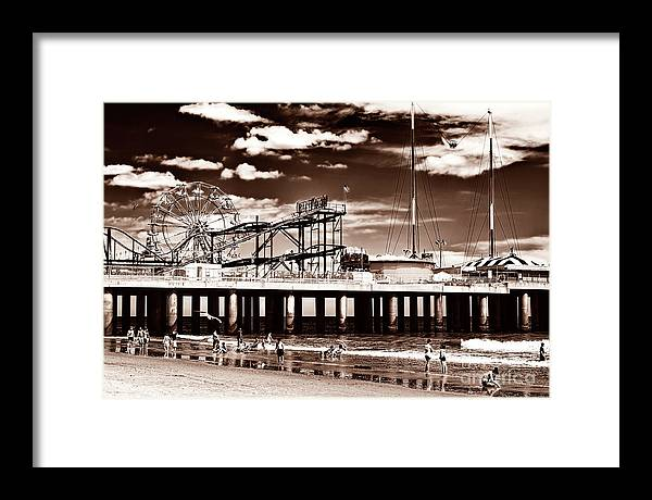 Vintage Steel Pier Days Framed Print featuring the photograph Vintage Steel Pier Days in Atlantic City by John Rizzuto