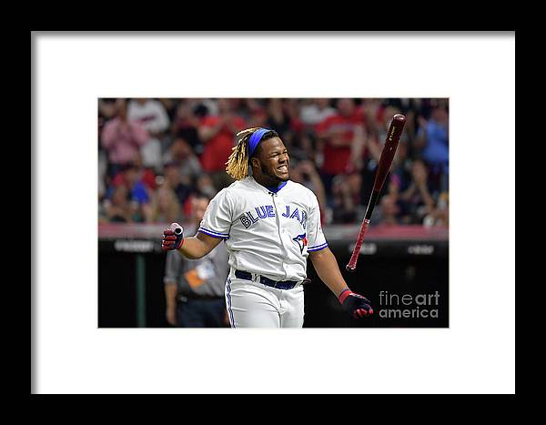 Three Quarter Length Framed Print featuring the photograph Vladimir Guerrero by Jason Miller