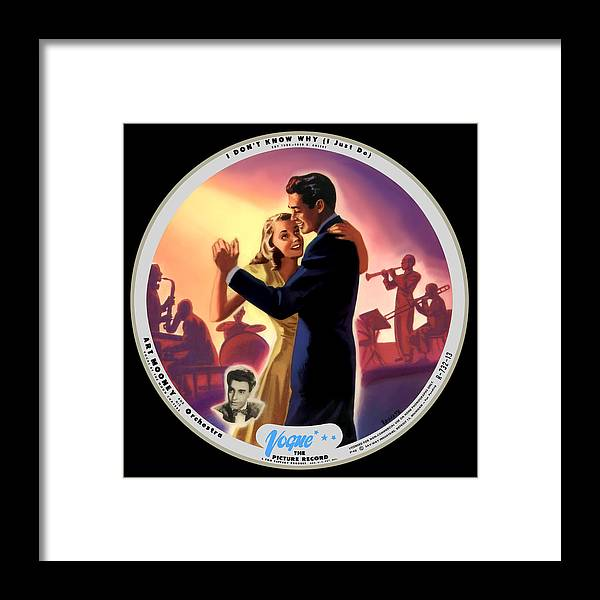 Vogue Picture Record Framed Print featuring the digital art Vogue Record Art - 732-13 - P 40 - Square Version by John Robert Beck
