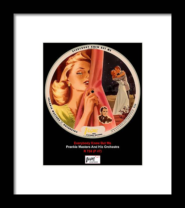 Vogue Picture Record Framed Print featuring the digital art Vogue Record Art - R 724 - P 47 by John Robert Beck