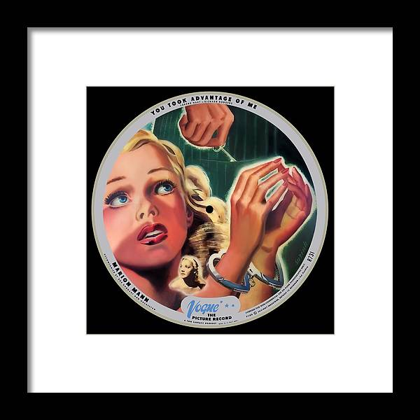 Vogue Picture Record Framed Print featuring the digital art Vogue Record Art - R 731 - P 105 - Square Version by John Robert Beck